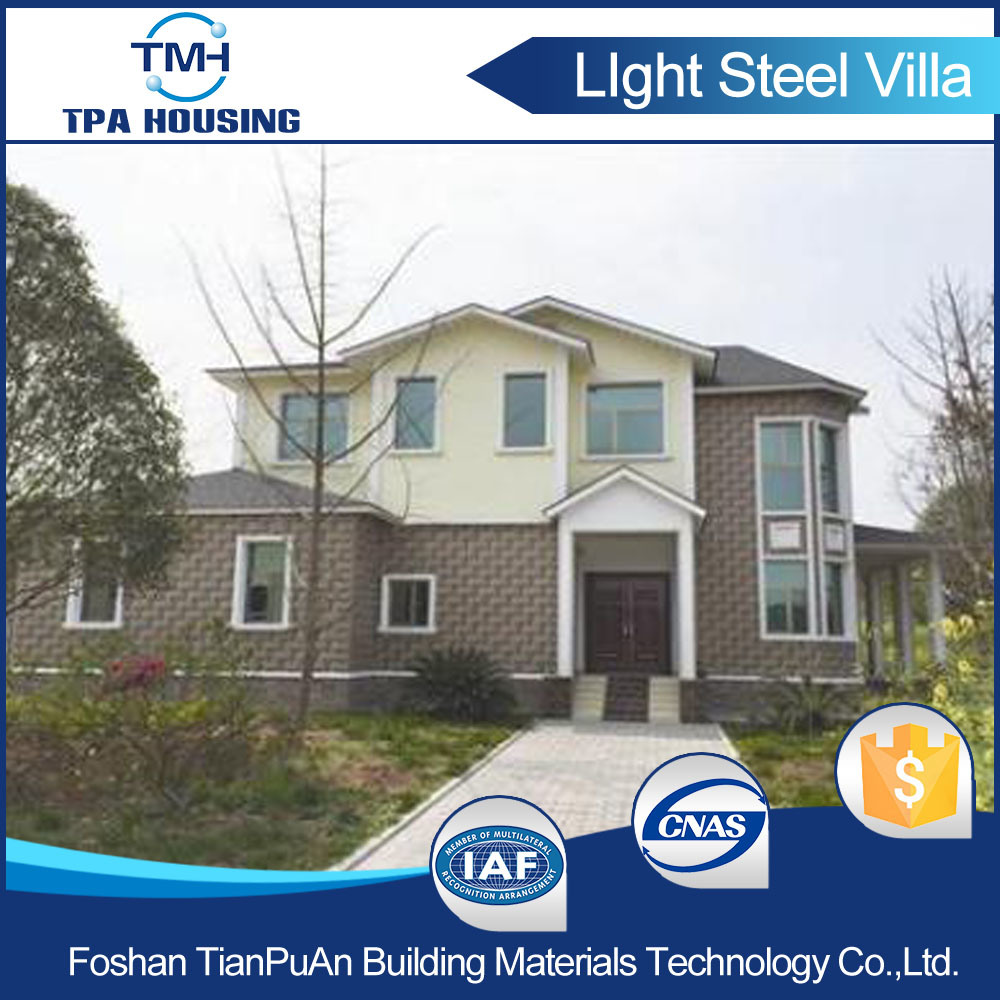 Steel Frame Prefab House China Standards with 3 Bedrooms