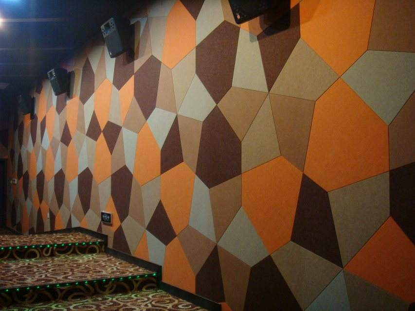 Decorative Acoustic Fabric Fiber Wall Panel/ Fireproof Class a Wall Panel