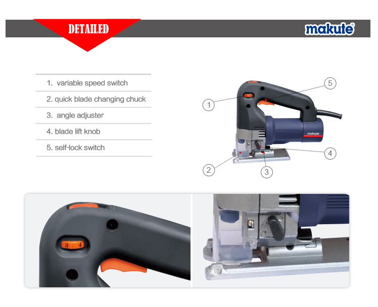 65mm 600W Electric Power Tools Jig Saw for Woodworking (JS013)