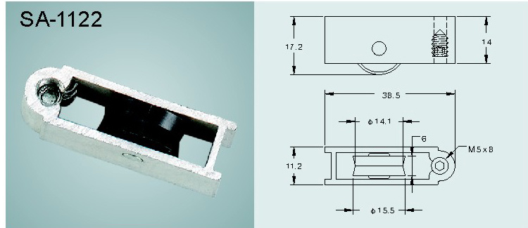 Window and Door Sash Roller/Pulley (SA-1122)
