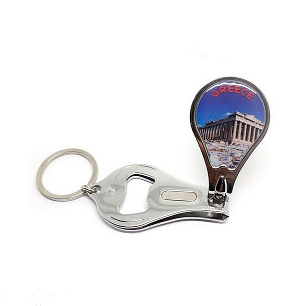 Custom Metal Keychain with Bottle Opener Nail Clipper Wholesale