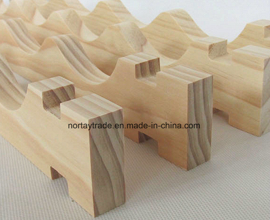 Fine Natural Pine Wood Stackable Wine Racks