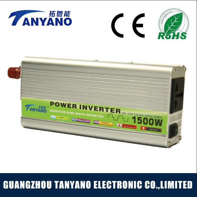 Widely Used 1500W Modified Sine Wave Car Power Inverters