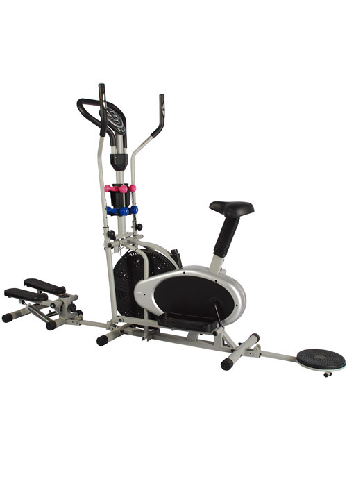 Duo Function Exercise Workout Cross Trainer Machine with Twister and Stepper