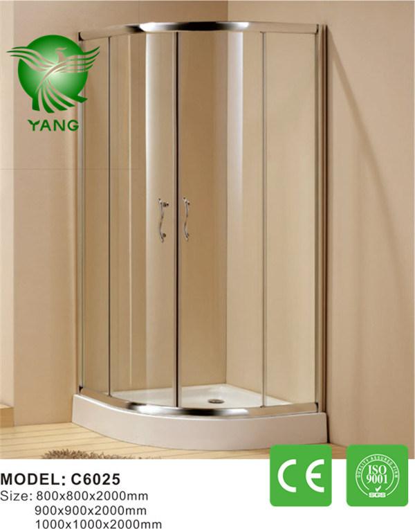 Stainless Steel Frame Sliding Shower Room Made in China