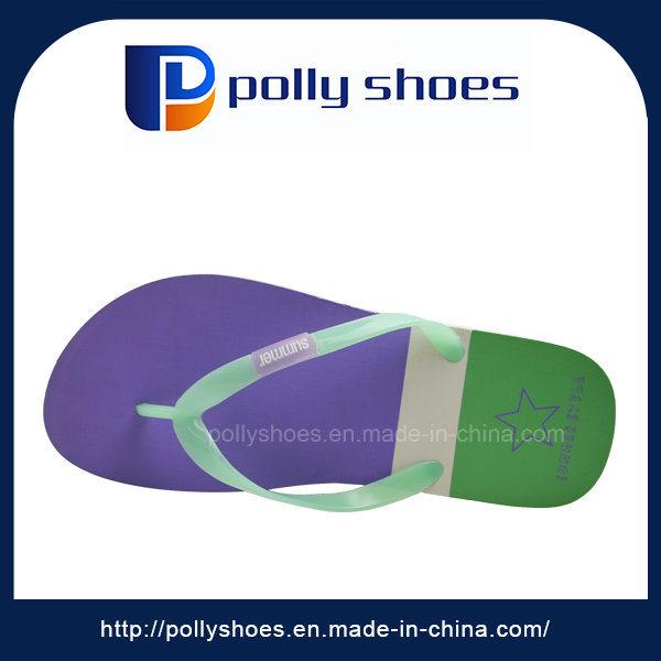 New Design Cheap Bicolor Sole Lady Flip Flops