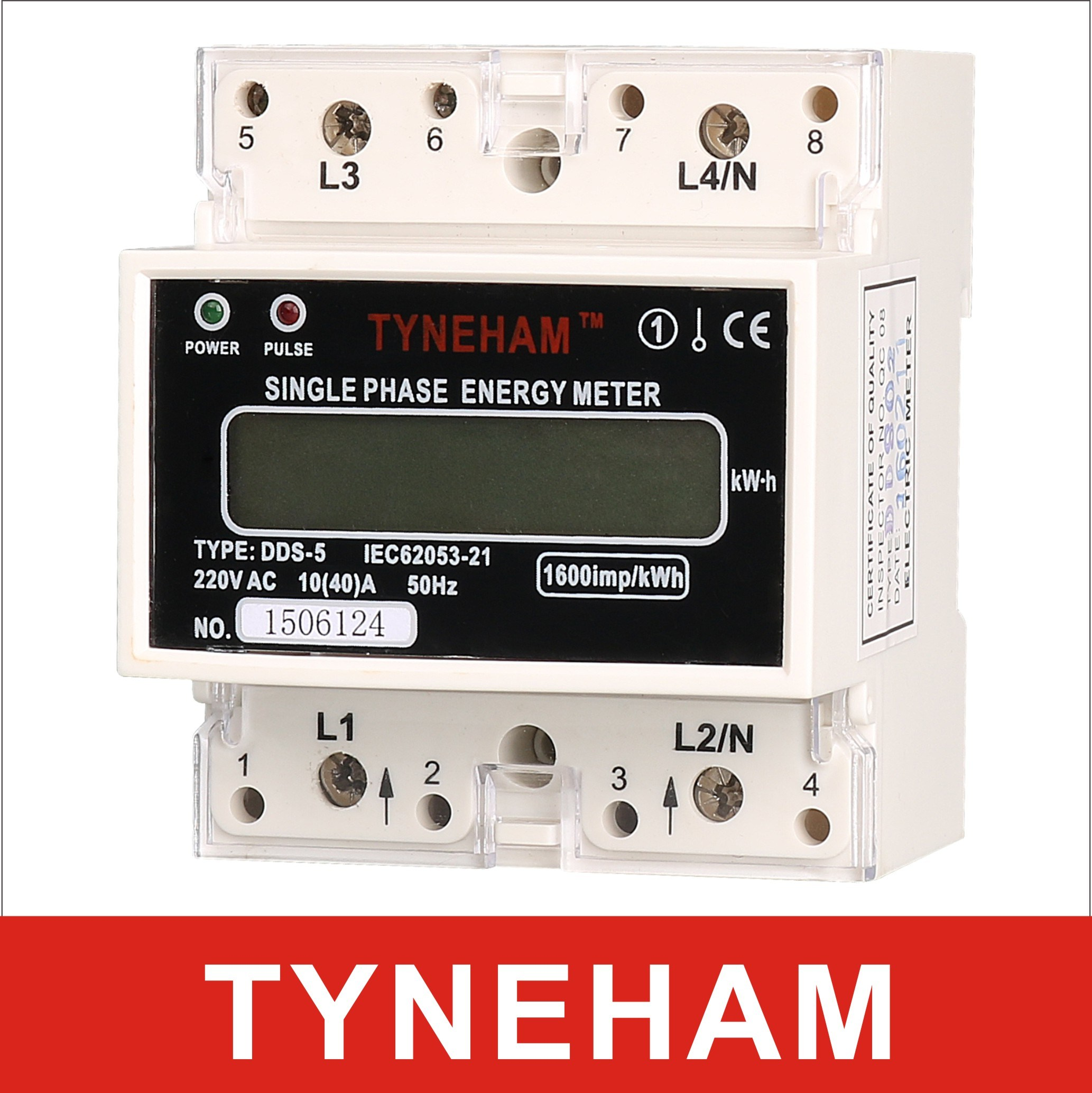 Dds-5L Series DIN Rial Mounted Single Phase Electronic Energy Meter