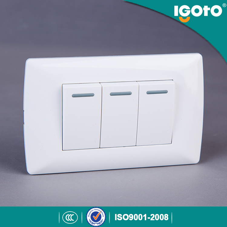 Igoto American Type 3 Gang 10A Wall Switch