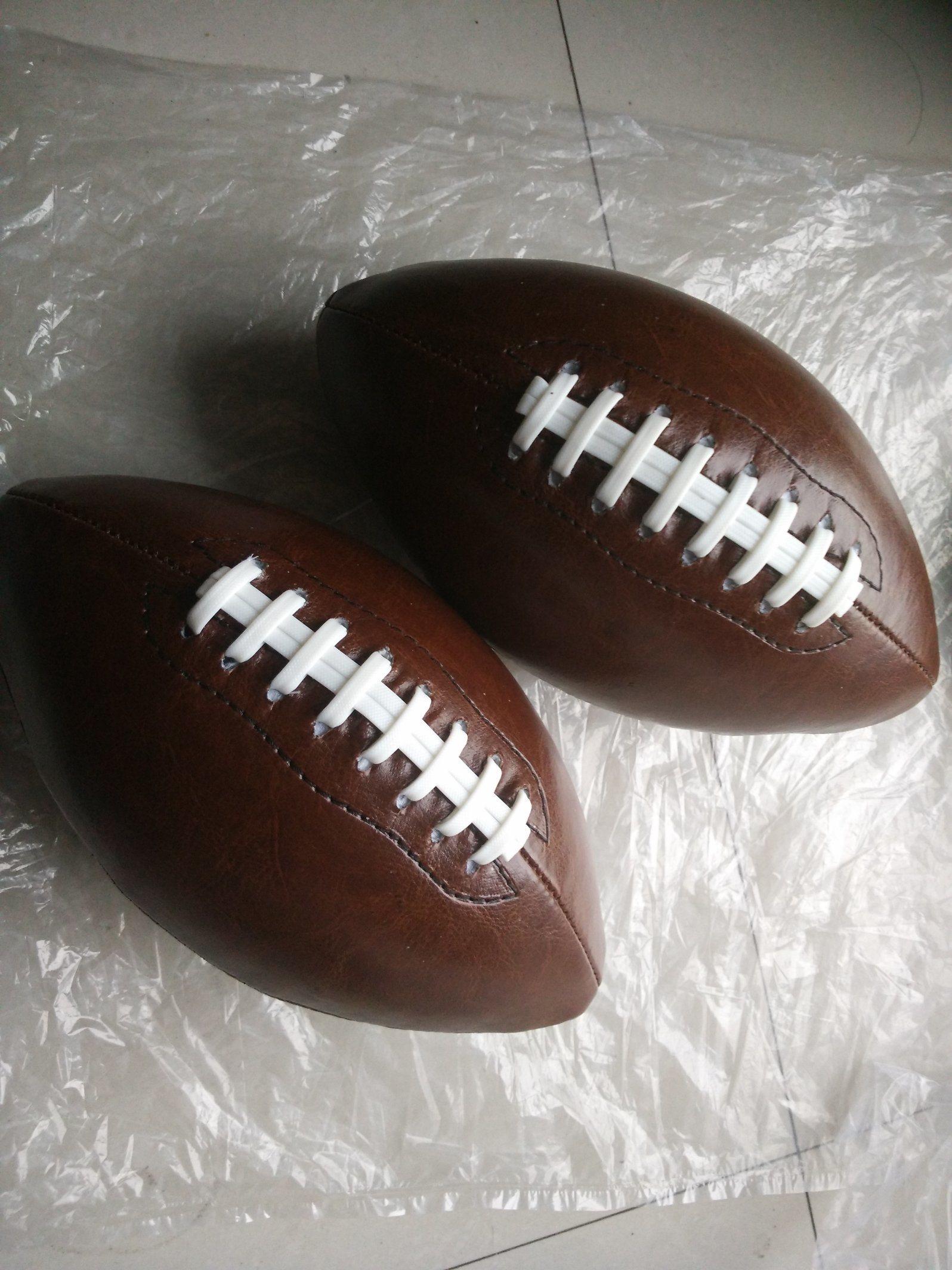 6# PVC Machine Stitching Brown American Football