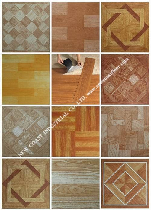 Vinyl floor tiles self stick