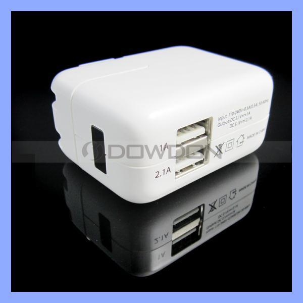 Power Adapter Dual USB Travel Charger for iPad iPhone Wall Charger Us/EU/UK/Au Plug