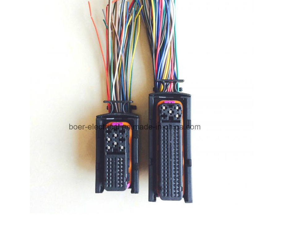 Automotive Wire Harness with Chip Tuner Computer Board ECU Connector