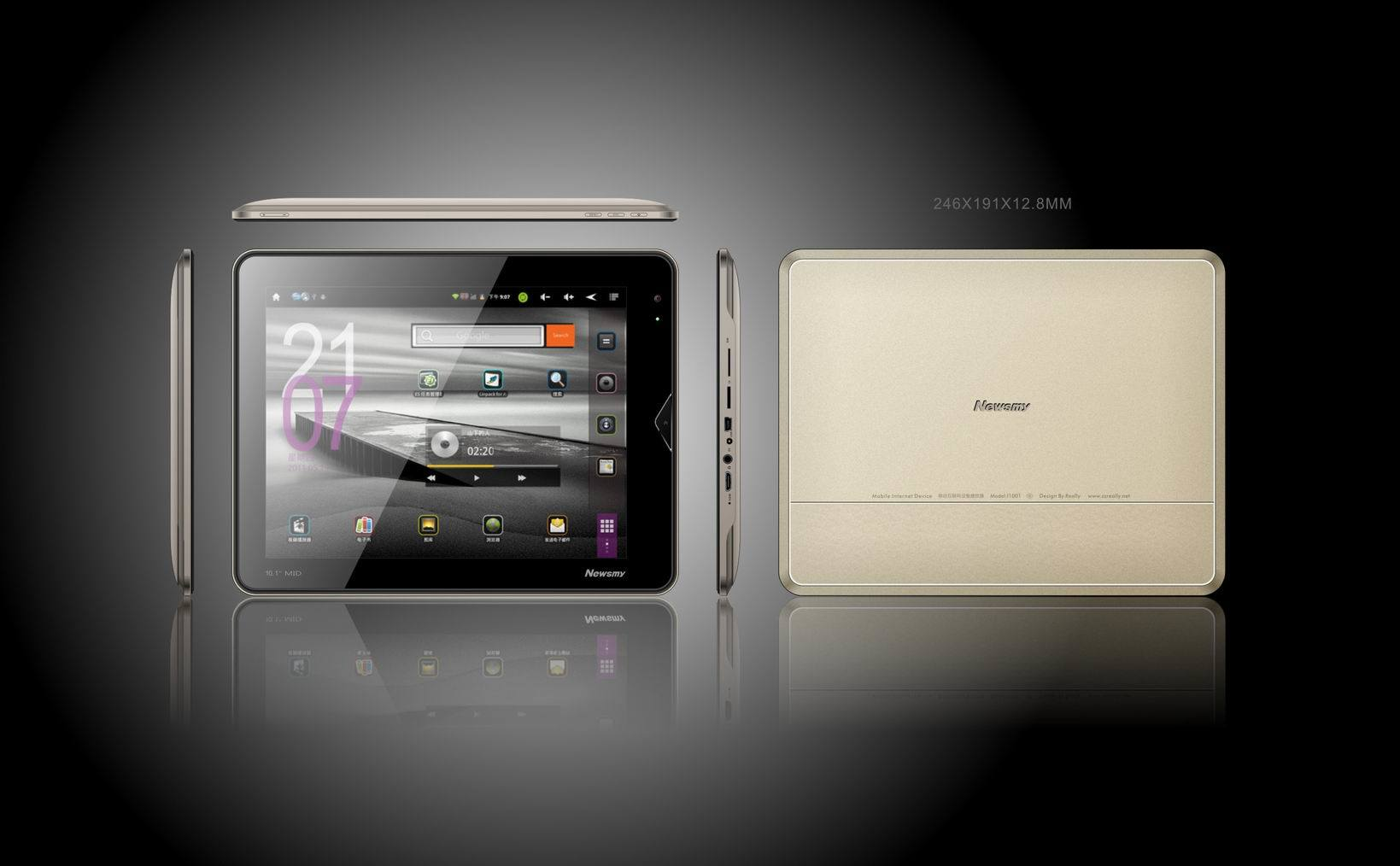 T10 Tablet PC Google Android System 2.3 & 9.7 Inch Capacitive Touch