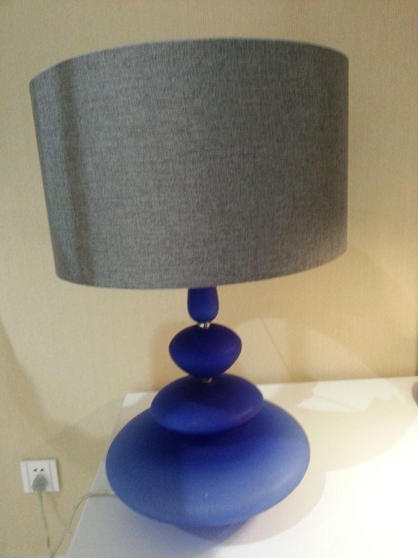 Modern Design Blue Glass Base Home Goods Table Lamps (JT13050/00/001)