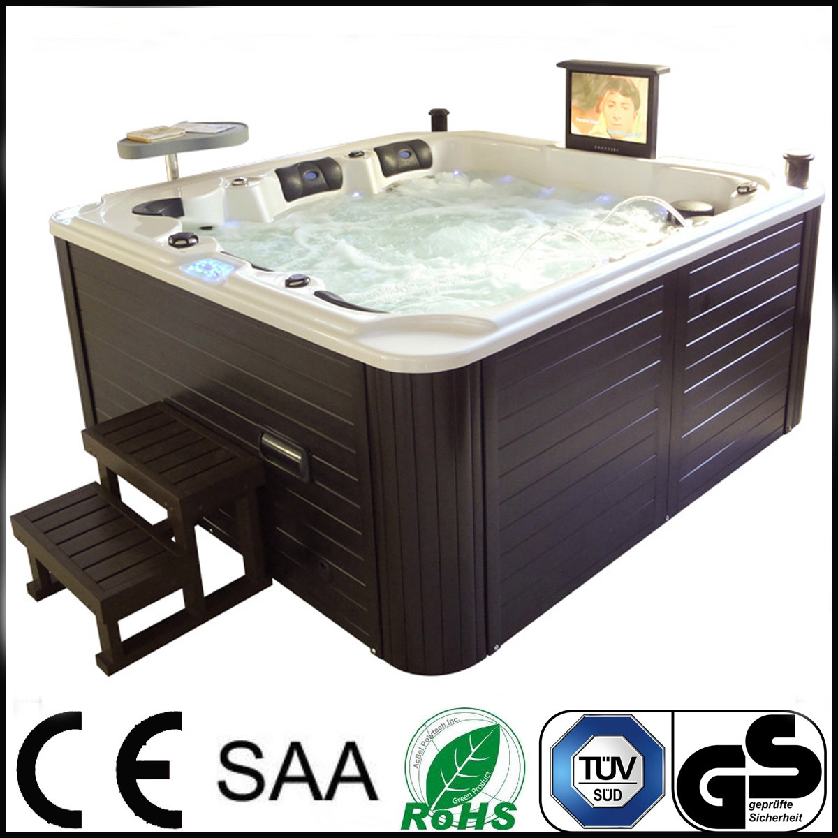 china usa balboa control 140 pcs jets two lounges hot tub photos pictures made in. Black Bedroom Furniture Sets. Home Design Ideas