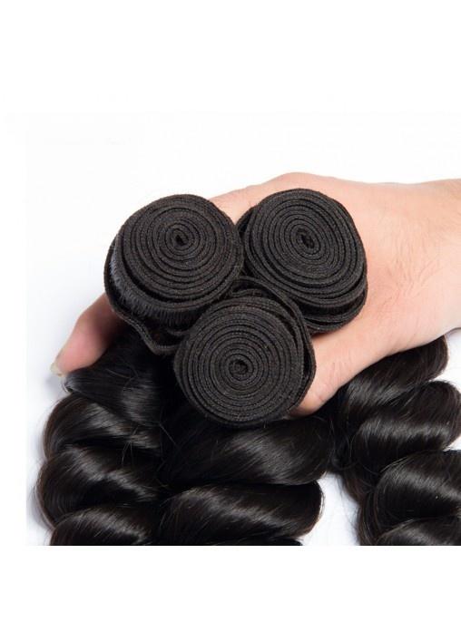 Virgin Hair Loose Wave Bundles Hair Extension Unprocessed Loose Wave Virgin Hair Human Hair Weave