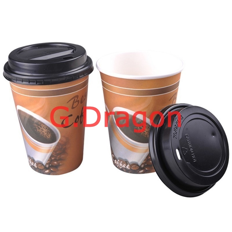 1.5-32 Ounce Hot Beverage Paper Cups and Lids (RPC-005)