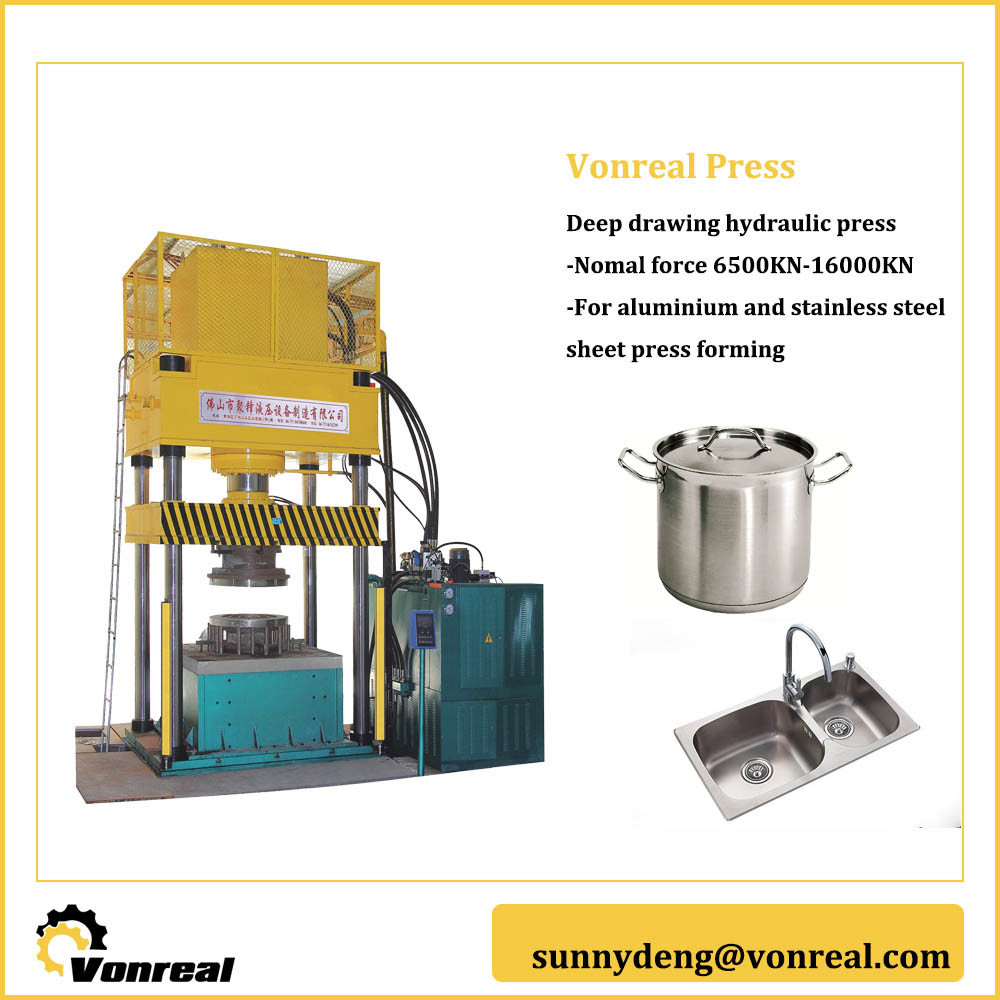 Hydraulic Press of Positive and Negative Drawing for Aluminium Sheet