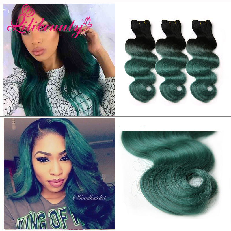 """24"""" Ombre Color Human Hair Extension Wave Hair"""