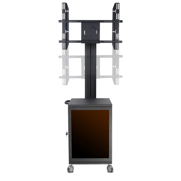 "Video / TV Conference Stand / Bracket 30-60"" Landscape & Portrait Cabinet Lockable"