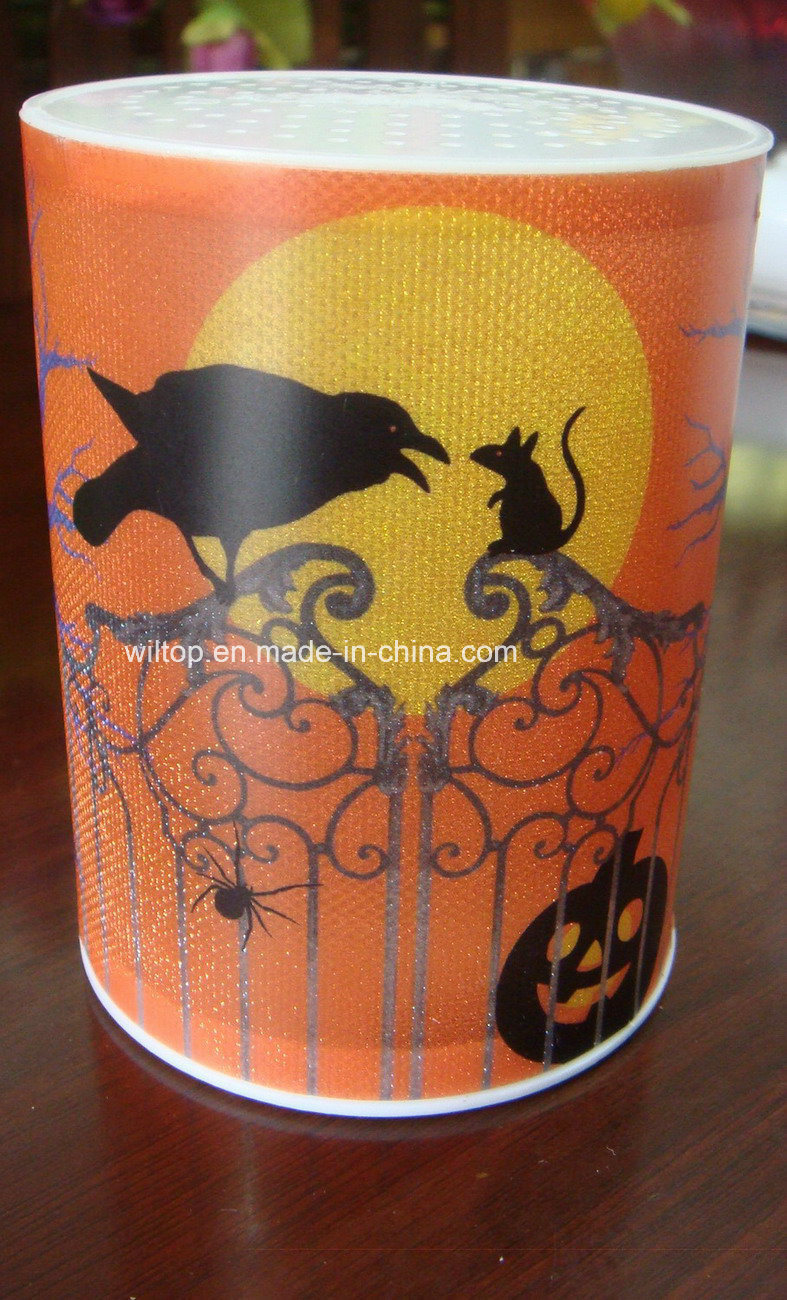 Plastic Halloween LED Light up Candle (LP015)