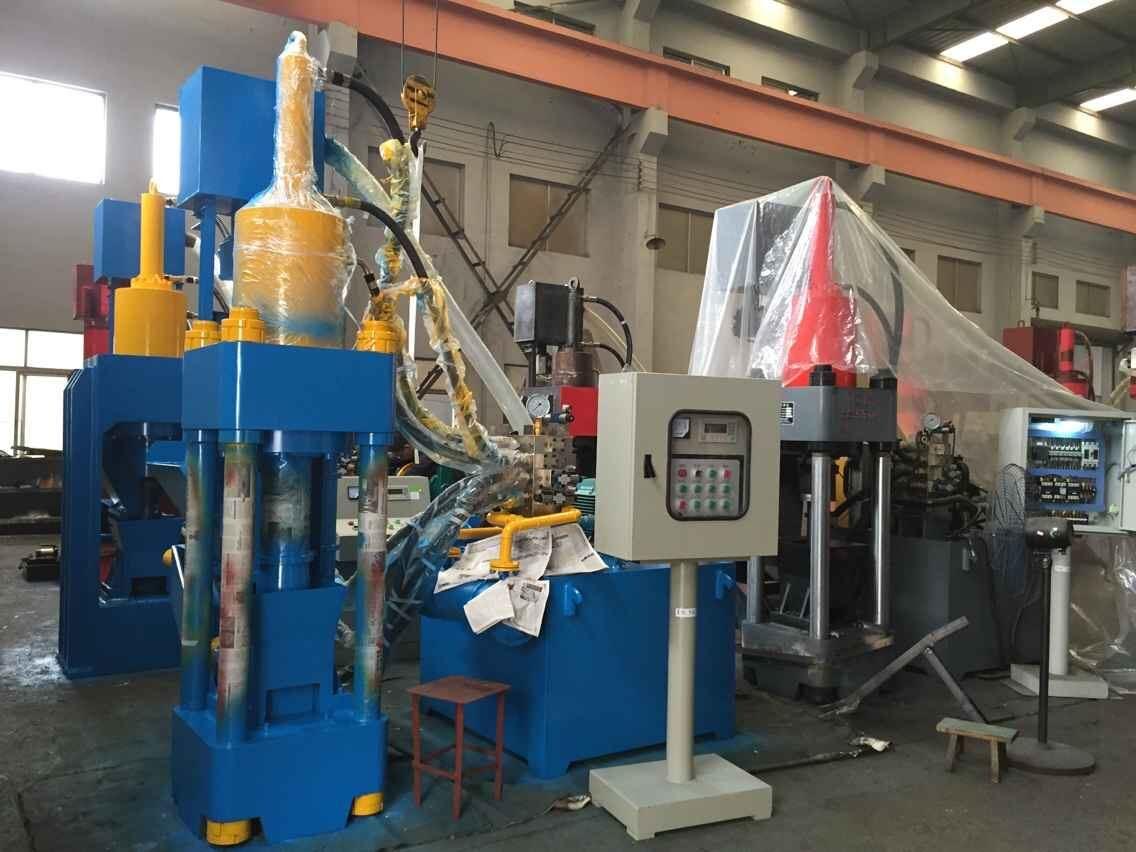 Briquetters Automatic Aluminum Iron Metal Scrap Hydraulic Briquette Recycling Machine-- (SBJ-250E)