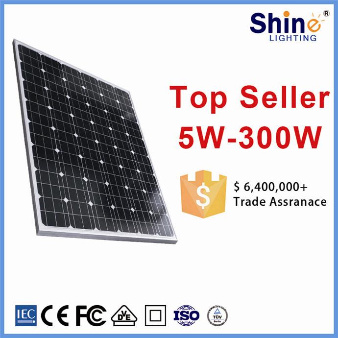 10 Years Warranty 50W-250W- 320W Solar Panels for Solar Power Plant/ Home System