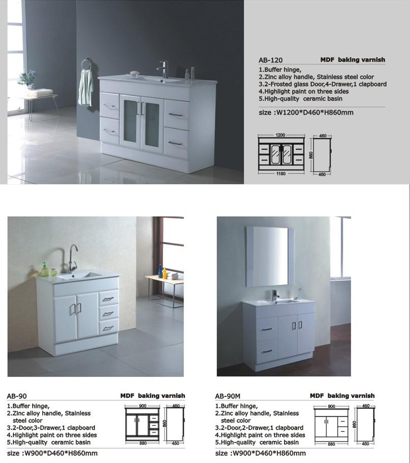 China Manufacturer of Bathroom Furniture