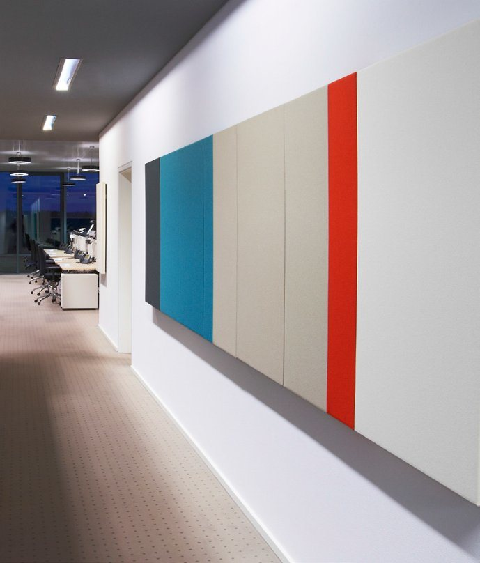 Uispair Modern Wool Wall Acoustic Panel in Sound Absorption Insulation Material for Office Hotel Home Decoration