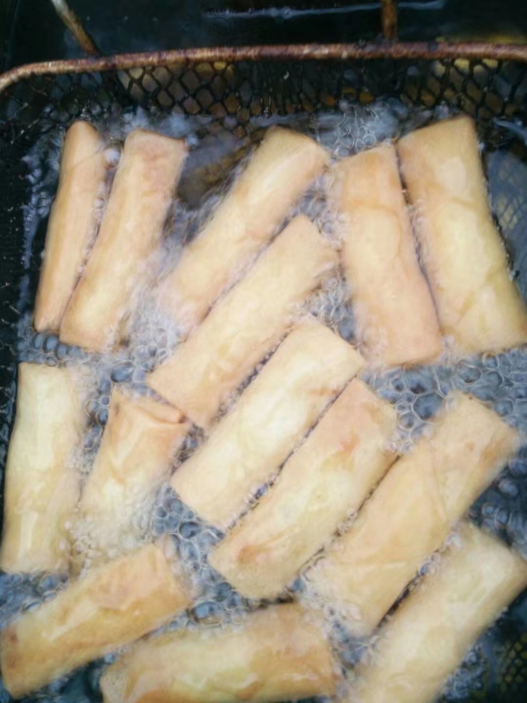 20g Cylinder-Shaped Vegetable Spring Rolls