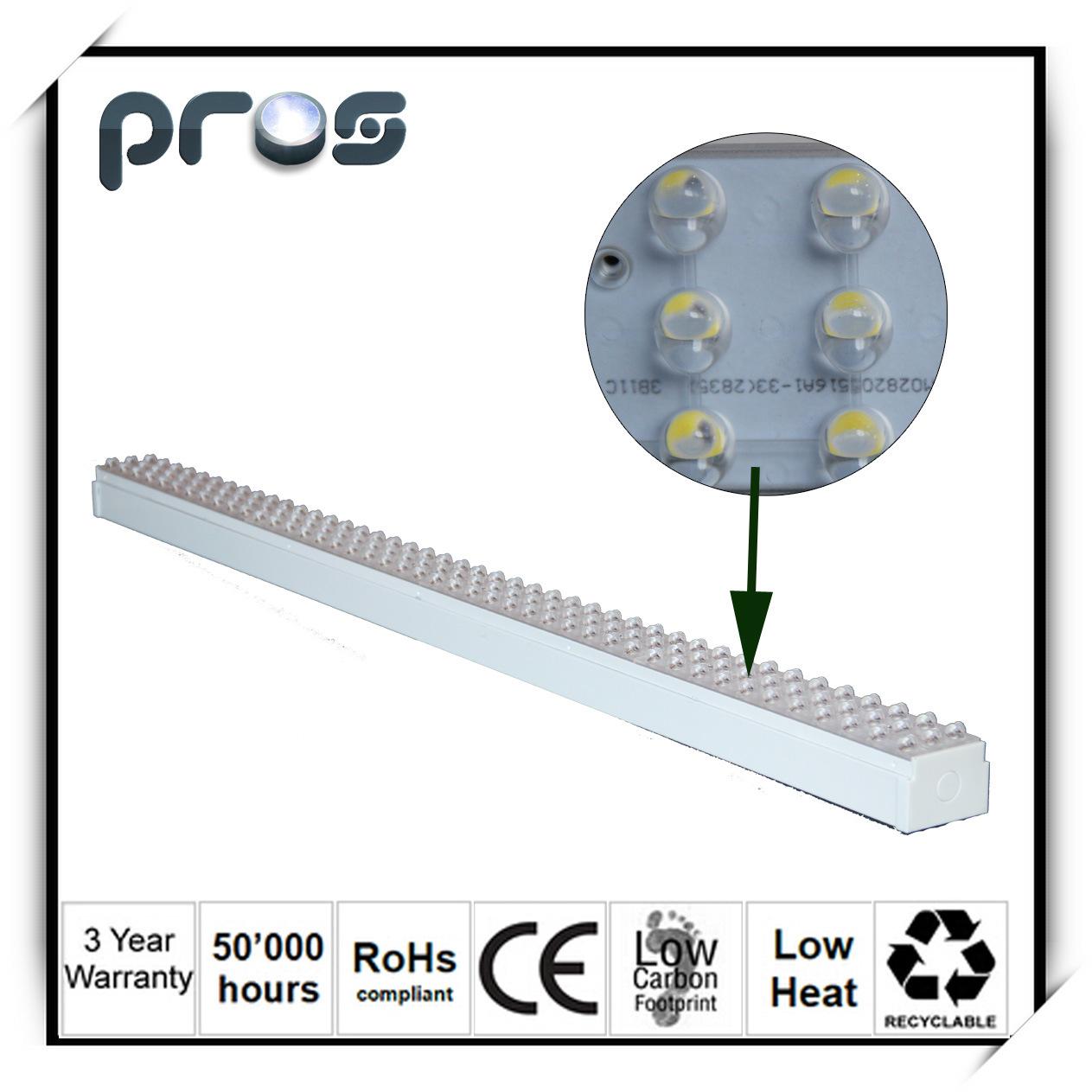 54W LED Linear Suspension Light, LED Chandelier Pendant Light