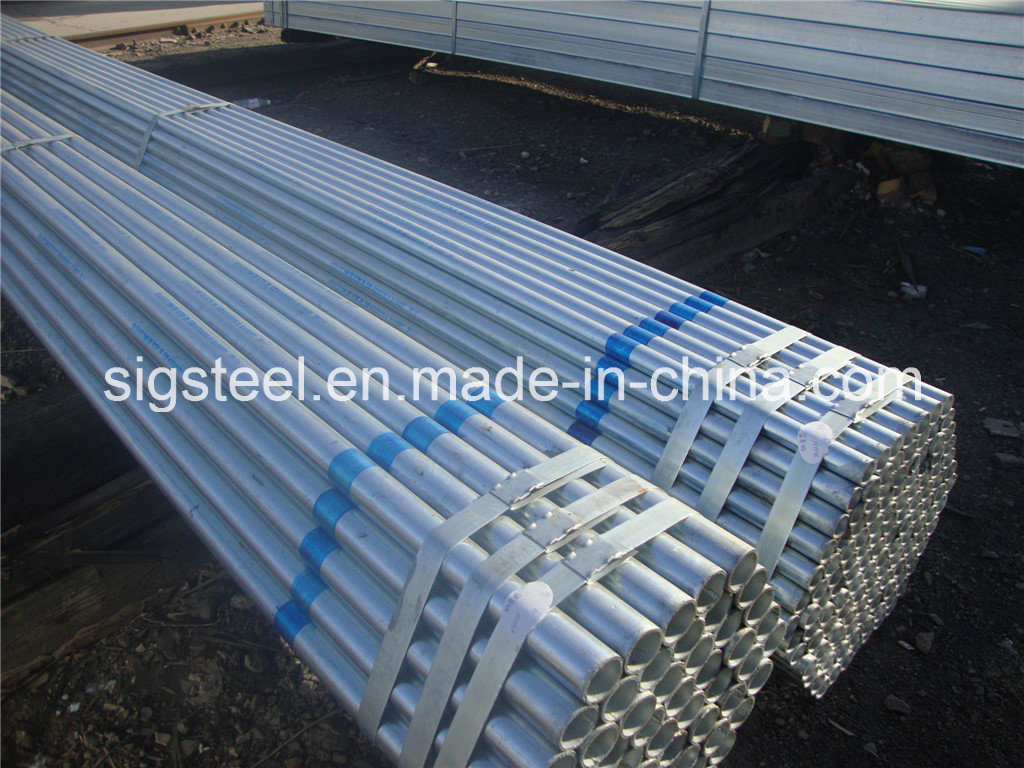 Round Shape Pipe with Zinc Coated