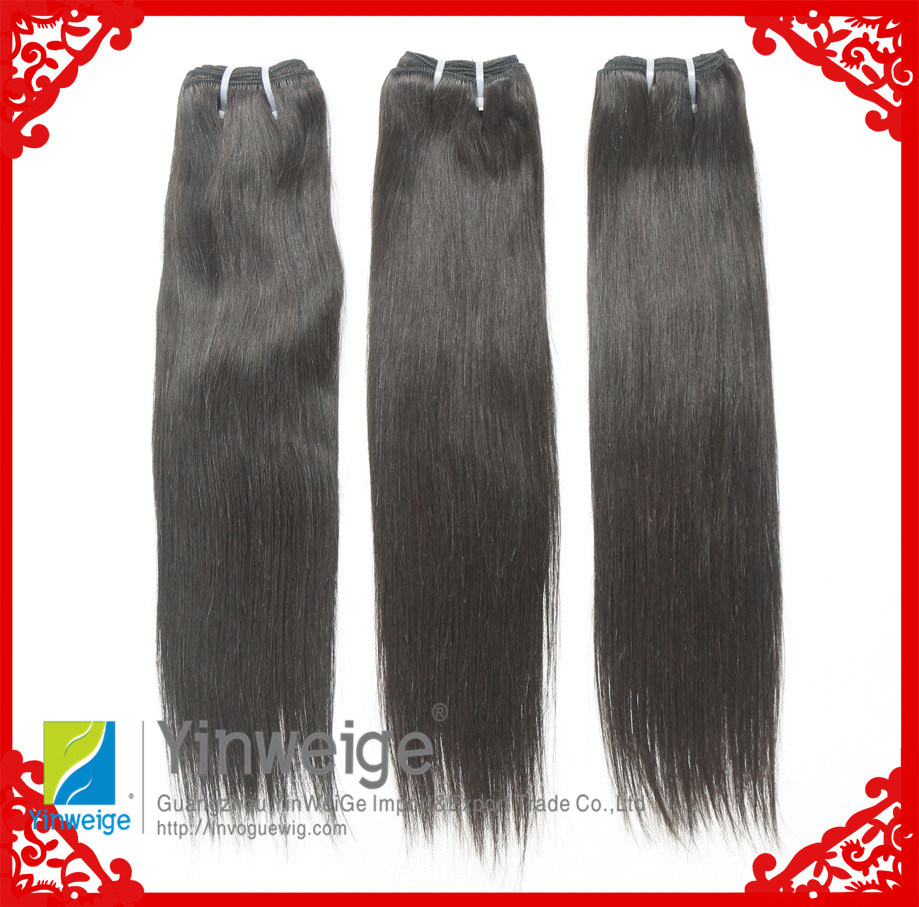 100% Natural Color Dyeable Straight Idian Virgin Remy Hair Weave (IH-4A-BW)