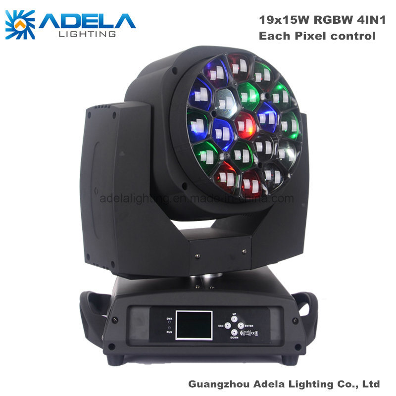 19X15W Big Bee Eye LED Moving Head Light Spot Wash Light