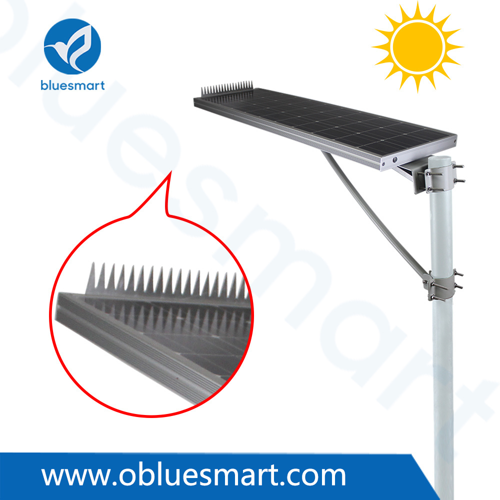 Bluesmart 80W Solar Panel Outdoor Integrated LED Street Garden Light with Bird-Preventing Thorn