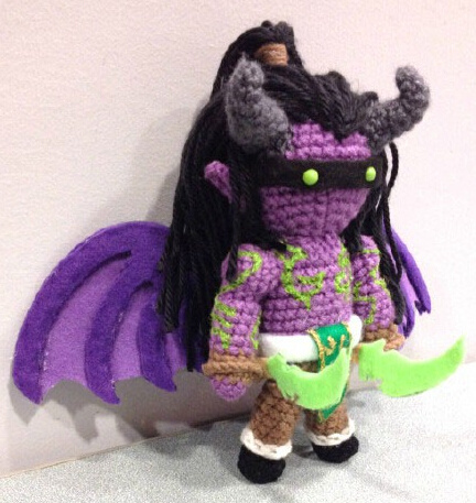 Wow Warcraft Plush Stuffed Hand Made Knit Doll Toy