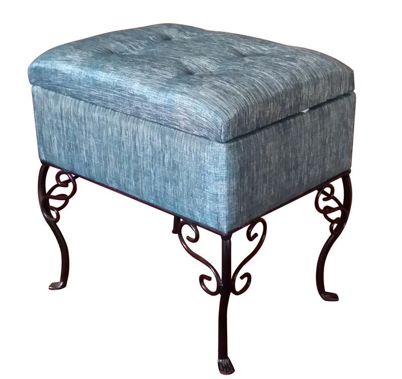 Upholstered Storage Ottoman Stool