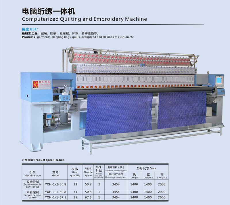 Quilting and Embroidery Machine Flat Industrial Embroidery Machinery