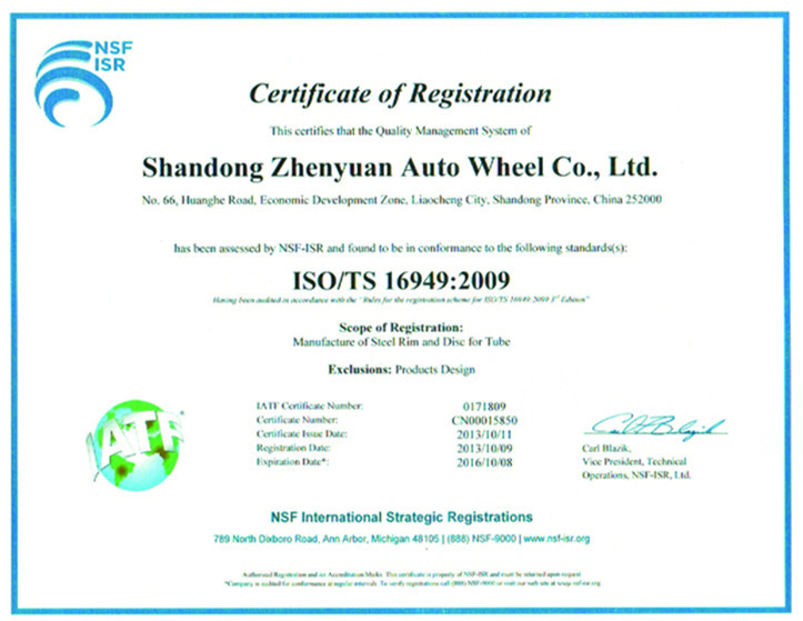 Car Wheel for New Patent Products (6j*15)