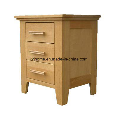Wooden Europen Birch Modern Brown Bedside Cabinet (Bern-02)