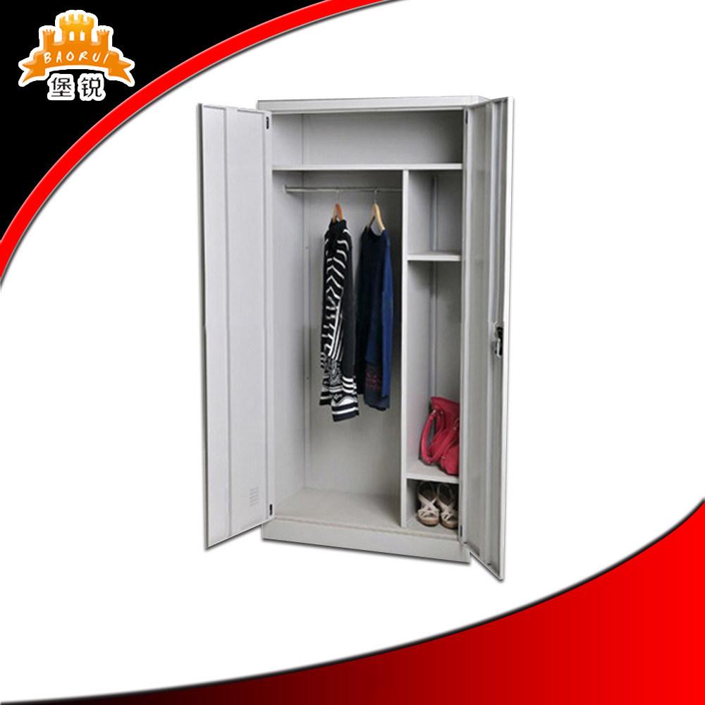 cheap 2 door steel godrej clothes storage cabinet locker metal closet wardrobe