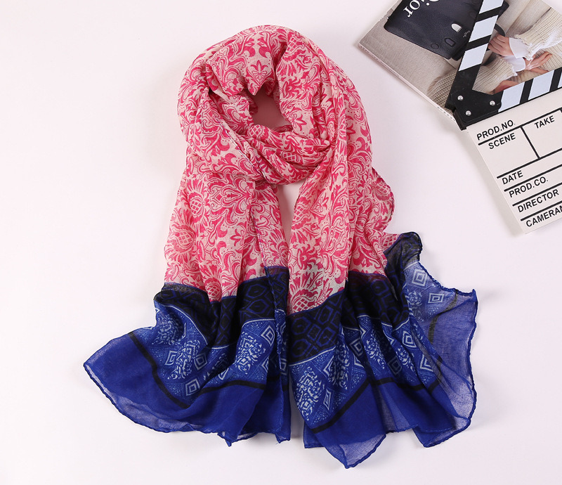 Digital Printed Cotton Voile Pashmina Lady Fashion Scarf
