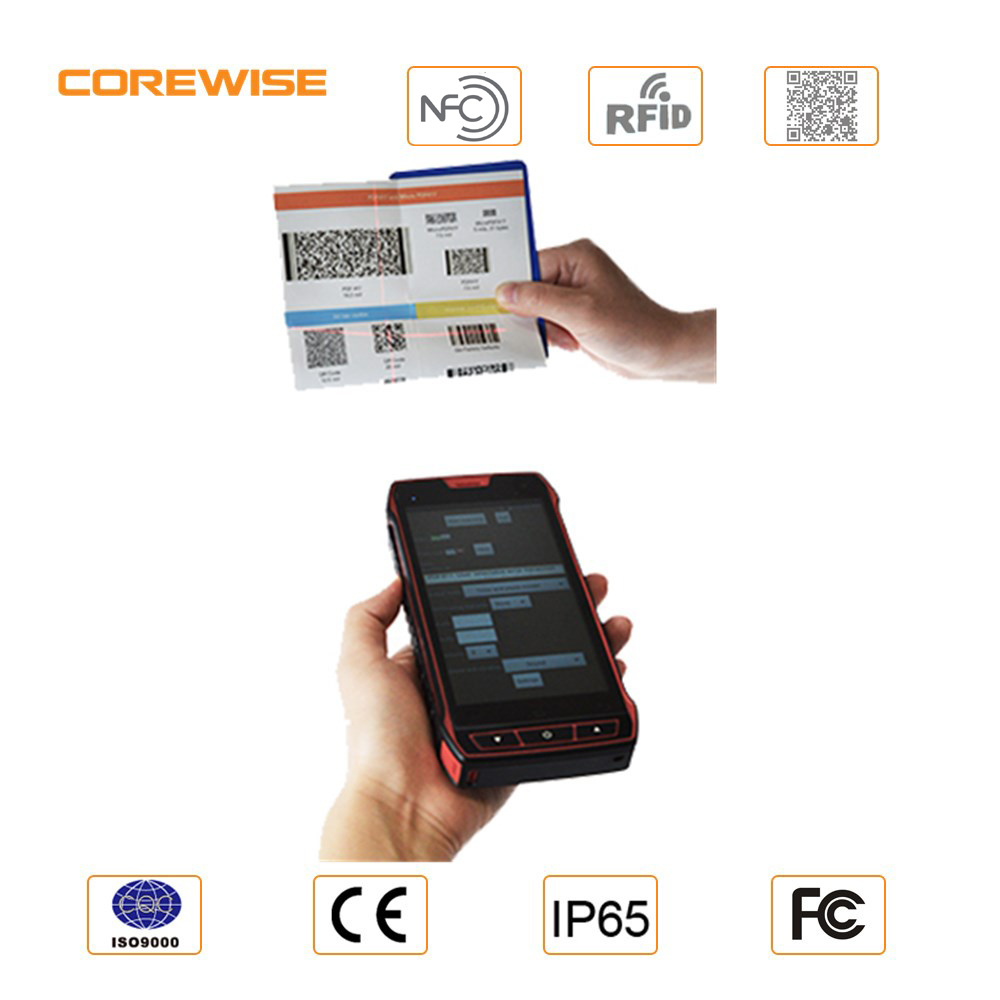 5′′ Android RFID PDA Mobile Phone with Barcode Scanner