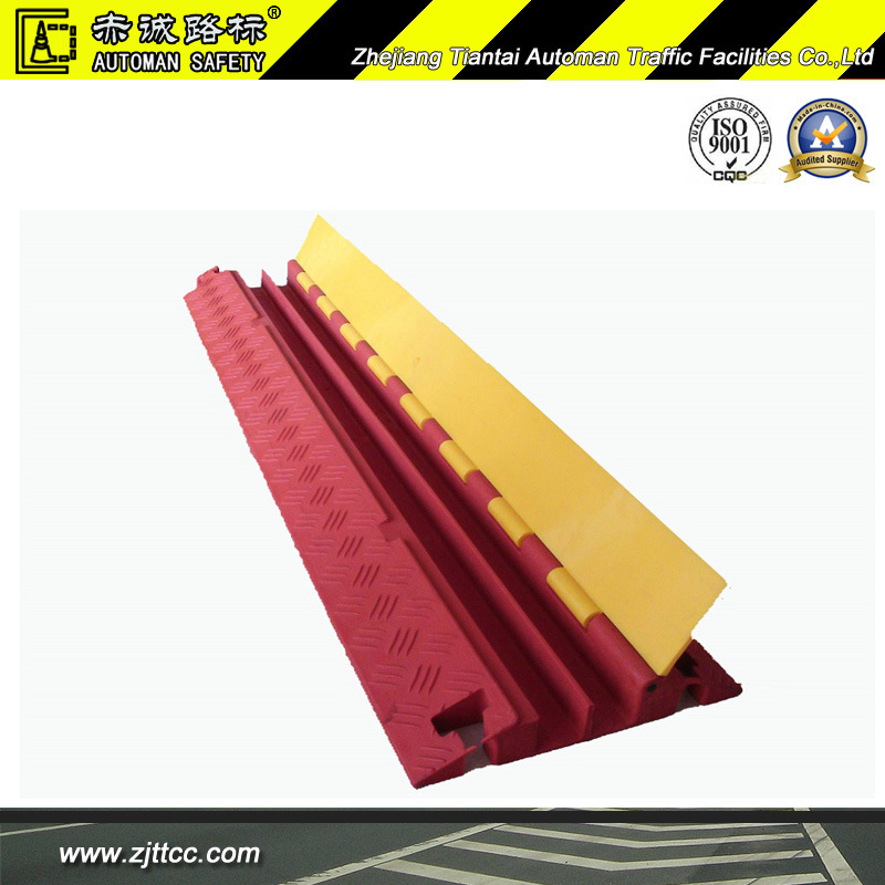 Heavy Duty Temporary Stage Cable Safety Recycled Rubber Protector (CC-B17)