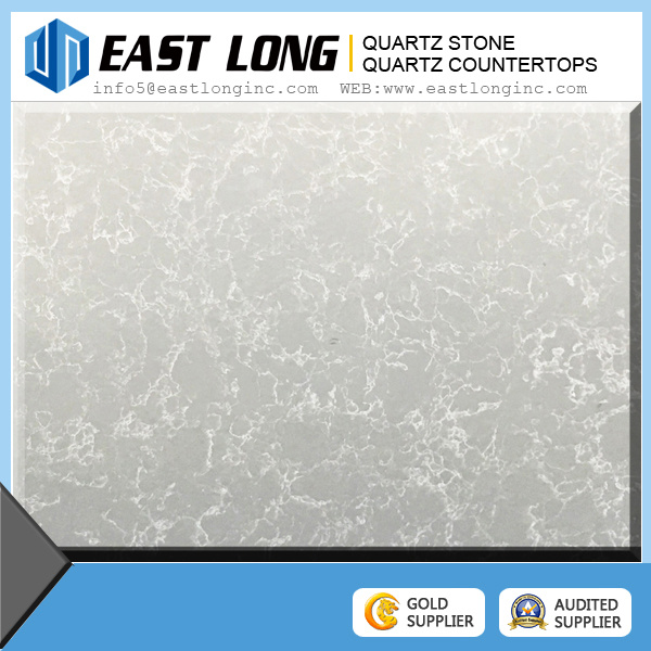 New Color Carrera White Marble Look Quartz Stone Countertop / Quartz Stone
