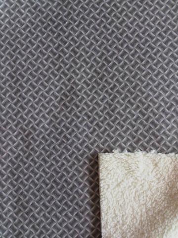 Stretch Fur Fabric Laminated Printing Suede (ESFH-567)