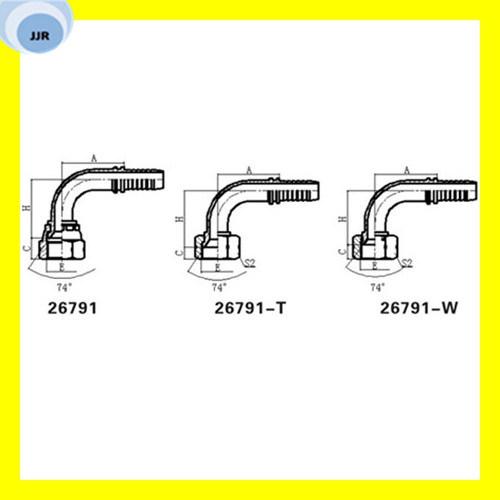 Carbon Steel Female Jic Hydraulic Pipe Fitting