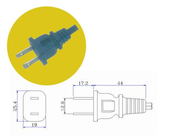 2 Pins American Plug (JY-01)