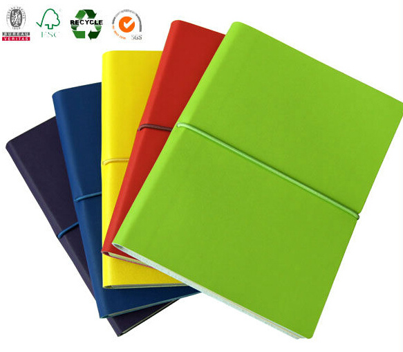 Colorful Leather Cover Organizer with Elastic Band