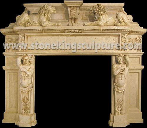 Stone Fireplace Mantel Marble Fireplace (SK-1580)